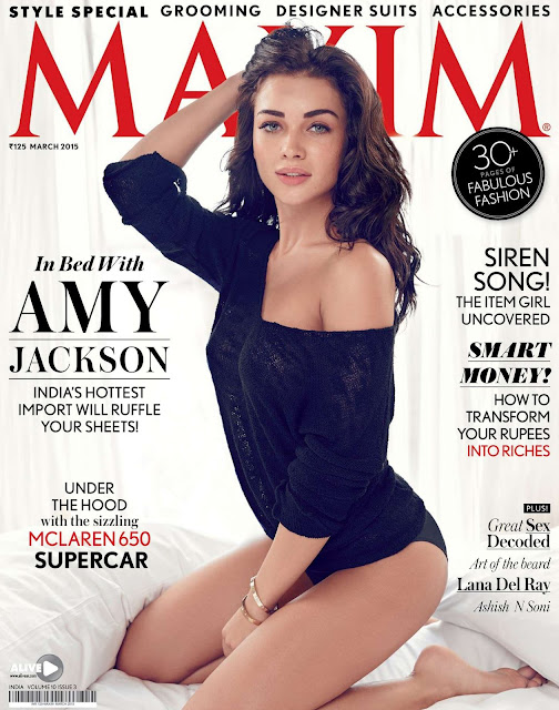Amy Jackson beautiful photoshoot pictures for Maxim India