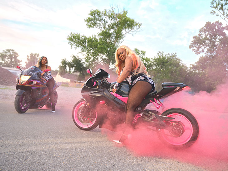 The latest Savage X Fenty campaign features Caramel Curves, a New Orleans based all-female, all-African American biker gang.