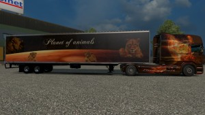Lion of Fire Scania RJL skin + trailer