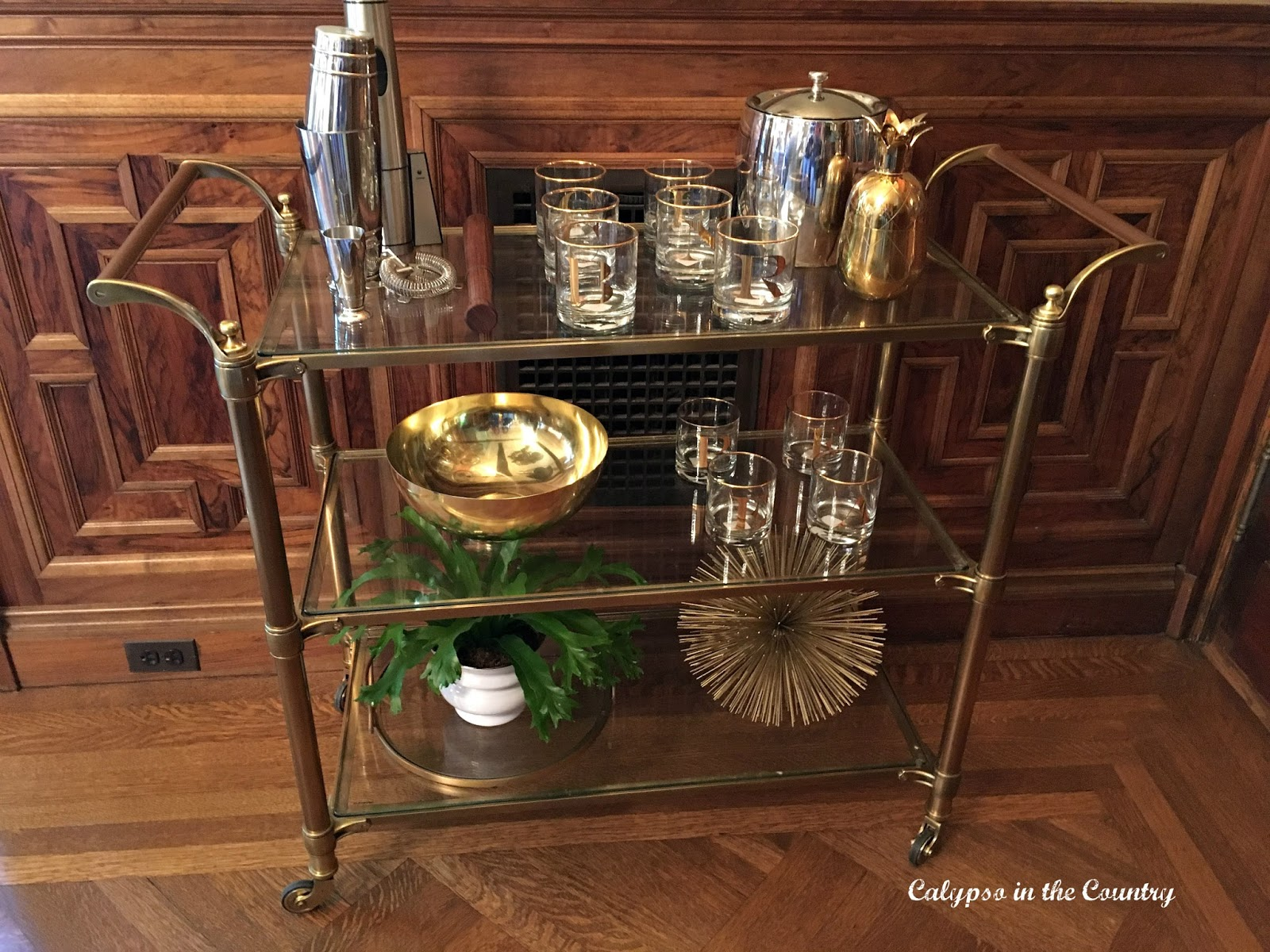Cabri Inc Bar Cart - Bar Cart Inspiration from a Designer Showhouse