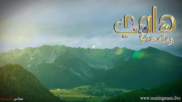 معنى اسم هادي وصفات حامل هذا الاسم Hadi