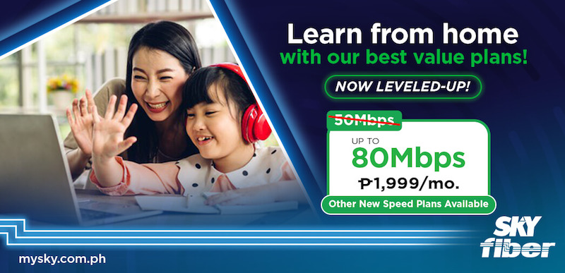 Get 40Mbps for only PHP 1,499 monthly with SKY Fiber's leveled-up super speed plans