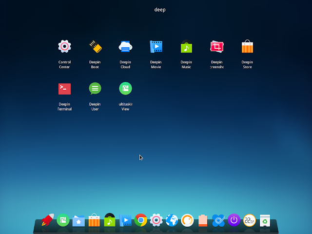 deepin application launcher