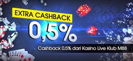 Main Keno dan Lottery M88 dapatkan EXTRA CASHBACK 0.5%