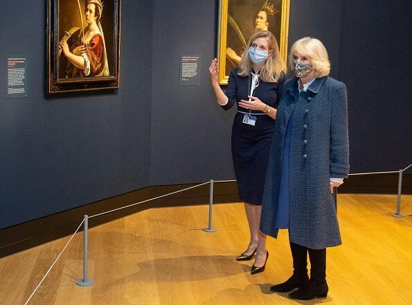 Prince Charles and the Duchess of Cornwall visited the Artemisia and the Titian: Love Desire Death exhibitions