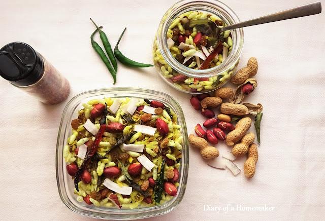 healthy-oat-chivda-recipe-snacks-rice-crispies-poha-flattened-rice-raisins-