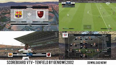 PES 2019 Scoreboard VTV Uruguayan League by Geniowe2002