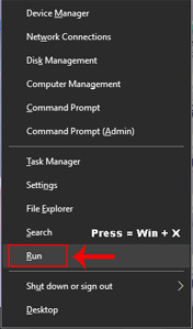 5 ways to open run command box in windows 10