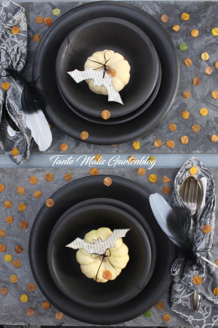 easy Halloween table setting