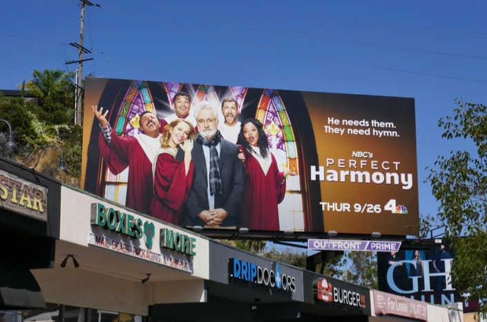 Perfect Harmony series launch billboard