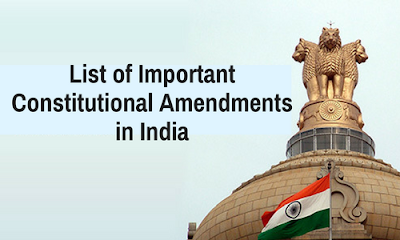 List of Important Constitutional Amendments in India