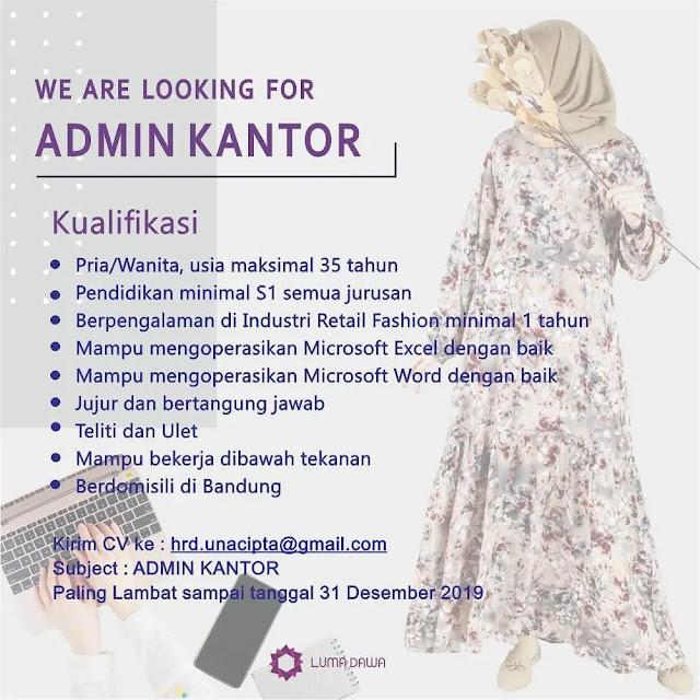 Info Loker Admin Kantor Luma Dawa Bandung