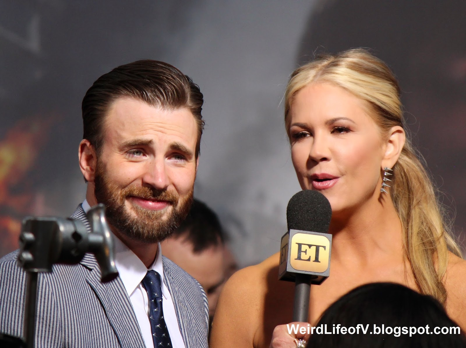 Chris Evans with Nancy O'Dell