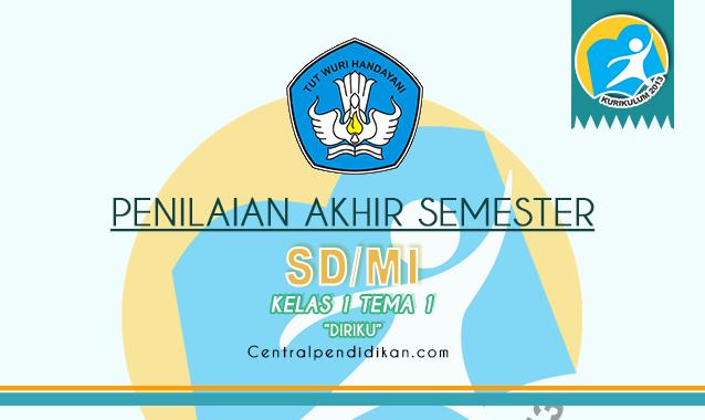 Contoh Soal PAS Kelas 1 SD/MI Tema 1