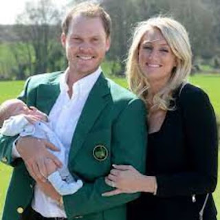 Danny Willett With His Wife And Two Kids