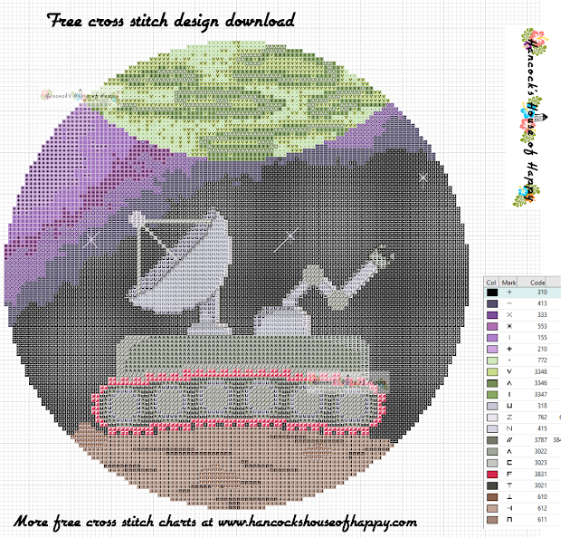 Space Week! Lonely Planet Rover Space Themed Cross Stitch Pattern Free to Download