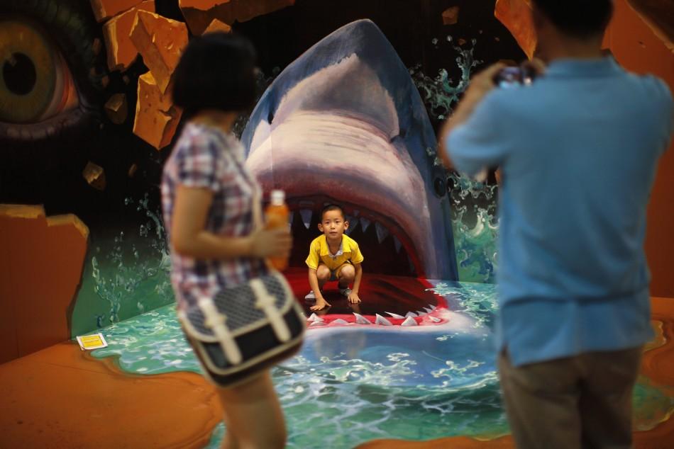 Wow  Gambar 3 Dimensi Keren di 3D Art Exhibition China