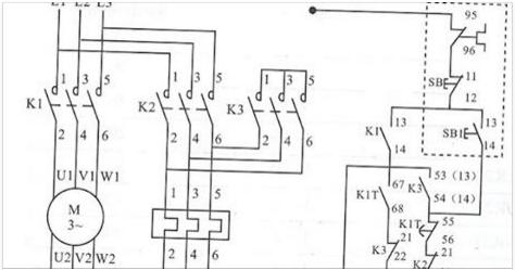Delta Star Connection Diagram Motor Starter Wiring Diagram