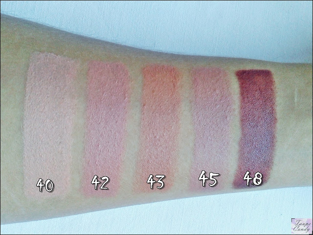 Rimmel Kate Moss nude lipsticks