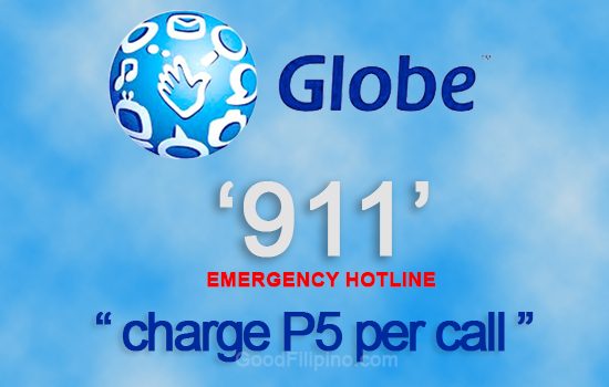 Globe Telecom to charge P5 on every calls to 911 Emergency Hotline