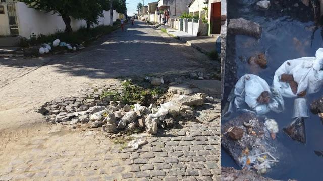 Após denuncia na TV Guaiamum/106,3FM finalmente prefeitura consertará buraco no Lot. José Albino Pimentel