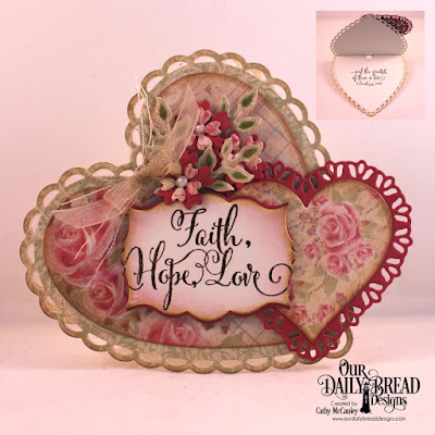 Our Daily Bread Designs Stamp Set: Let Love Grow, Paper Collection: Blushing Rose, Custom Dies: Tulip Heart, Layering Hearts, Bitty Blossoms, Branches and Leaves, Ornate Hearts, Mini Labels