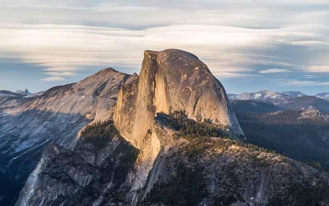 La montagna di Half Dome, Stati Uniti