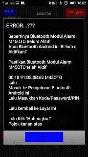 cara pakai alarm M45OTO