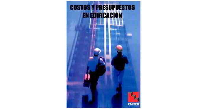 Descargar libro en pdf Costos y Presupuestos en Edificación - CAPECO