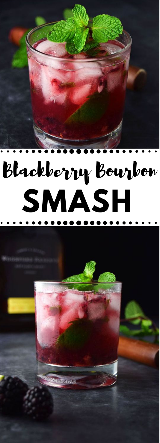 Blackberry Bourbon Smash Recipe #healthydrink #cocktail #blackberry #delicious #party