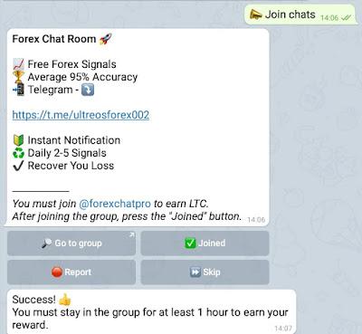 cara claim ltc click bot telegram