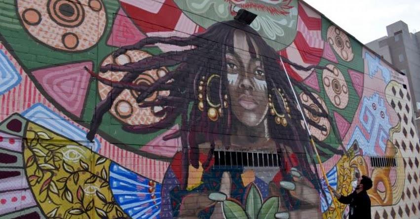 MI GENTE: Artistas urbanos pintan mural de 20 metros de largo en Miraflores
