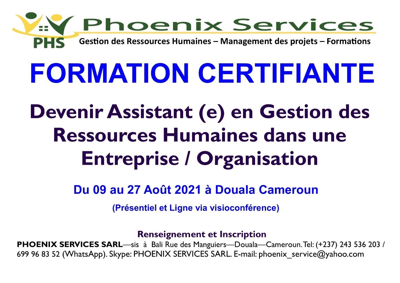 Formation Certifiante: Devenir Assistant(e) en Gestion des Ressources Humaines dans une entreprise