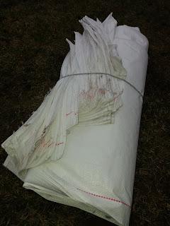 No novada koordinātoriem saņemtie talkas maisi