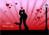 Lovers celebrating Valentine's Day