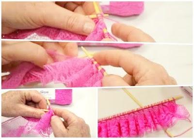 Aprendemos a tejer cinta de encaje a crochet