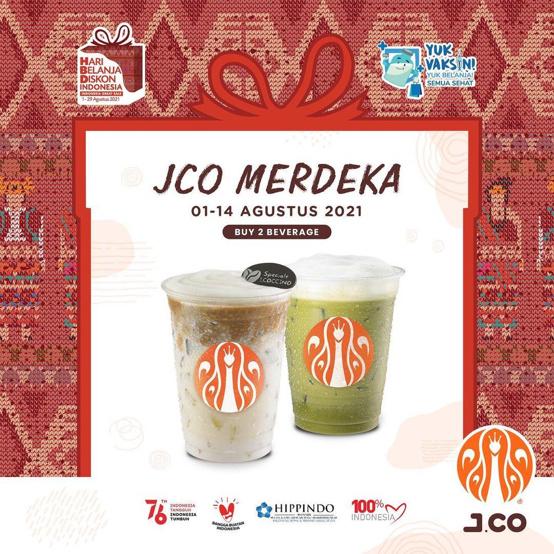 Promo JCO Merdeka harga 2 Minuman hanya 52K