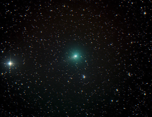 Comet C/2019 Y4 (ATLAS) Imaged on ATEO-1 by Muir Evenden as it makes its way thru the constellation Camelopardalis on March 30, 2020.