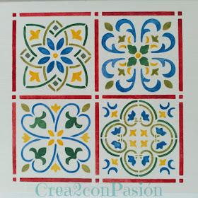 Stencil-azulejo-hidráulico-perchero-handmade-Crea2-Con-Pasión-segundo-azulejo