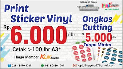 Manfaat Sticker Vinyl adalah Untuk Label Kemasan Kotak / Botol / Plastik, Label Mainan, Label Plastik, Poster, Foto, Decorasi, Branding Iklan, dll