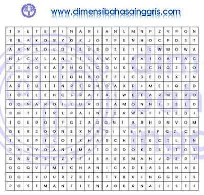 Permainan Word Search tentang Jobs and Professions