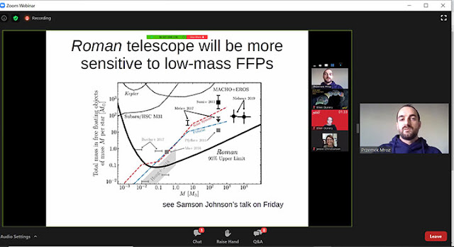 Higher sensitivity of Roman Space Telescope (Source: Przemek Mroz, Exoplanets Demographics 2020 meeting)