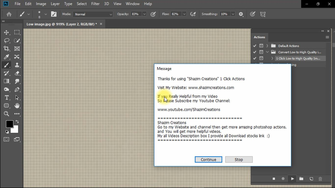 1 click convert into high quality photo in photoshop screenshot 4