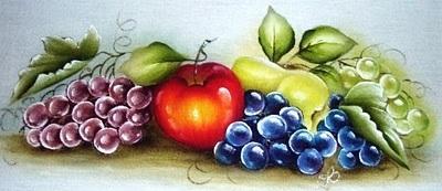 pintura em tecido uvas como pintar