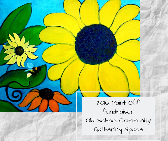 2016 Paint Off Event - Be Nice Grow Flowers art by Minaz Jantz