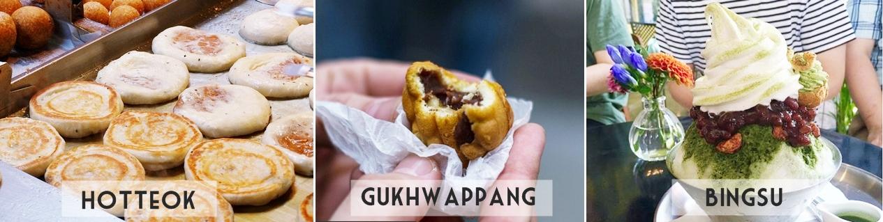 Comidas Coreanas: Hotteok, Gukhwappang e Bingsu