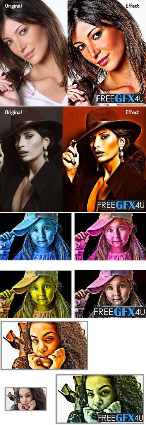 Luxury Oil Painting Photoshop Action
