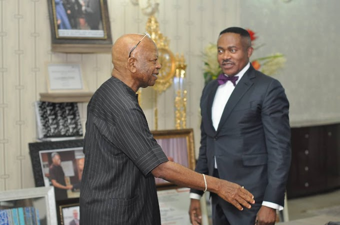 CONSULTATIONS!!! Billionaire Arthur Eze Recieves Dr. Godwin Maduka In Abuja Mansion