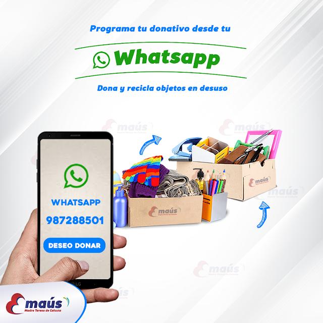 Programa tu donativo desde tu whatsapp