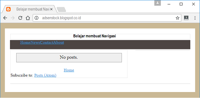 Menu Navigasi Template Blog Seo Fast Load